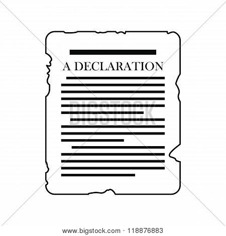 Declaration black icon