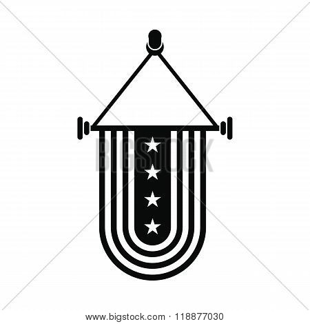 Pennant with the national flag of USA icon