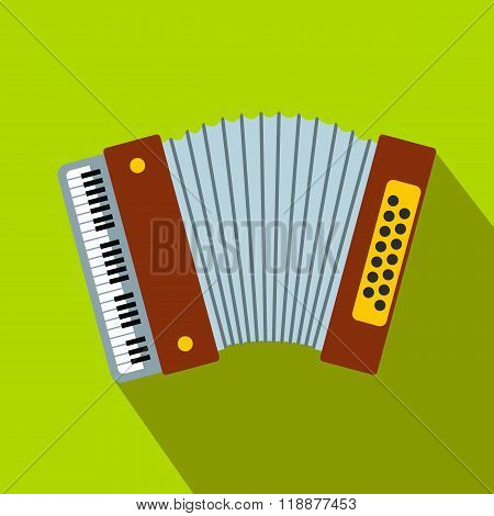 Retro accordion flat icon