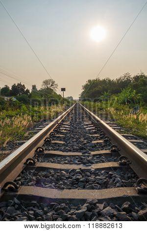 Railway Track Go Ahead Forward