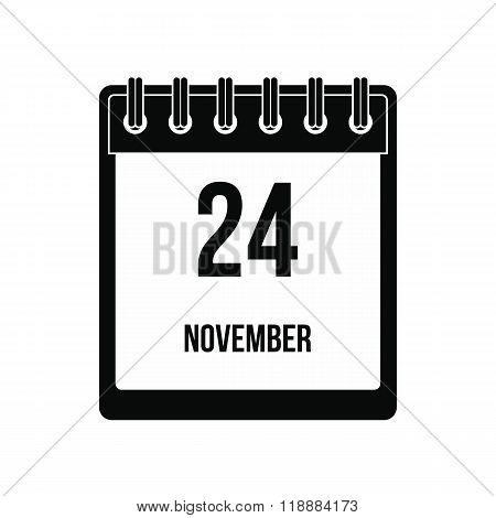 Calendar november 24 icon
