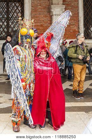 Venetian Couple - Venice Carnival 2014