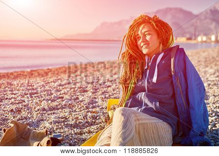young girl on the beach
