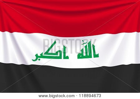 back flag iraq