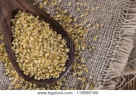 Portion Of Raw Bulgur