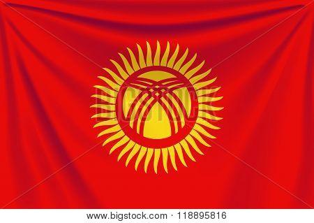 back flag kyrgyzstan