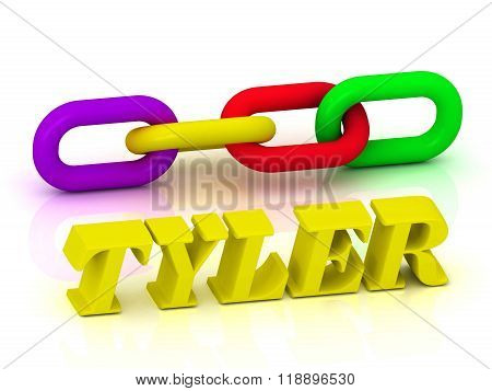 Tyler- Name And Family Of Bright Yellow Letters