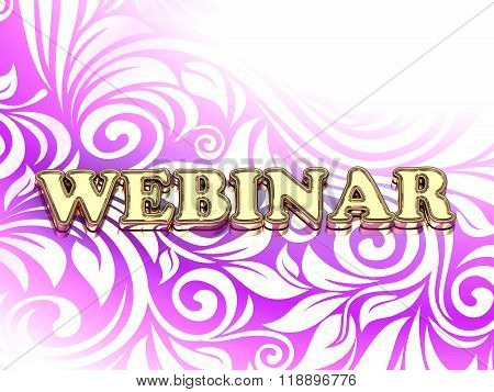 Webinar Bright Color Letters On Nice Rose Ornament