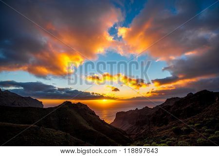 Mountains on La Gomera island