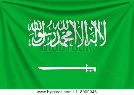 back flag saudi arabia