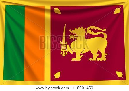 back flag  Sri Lanka