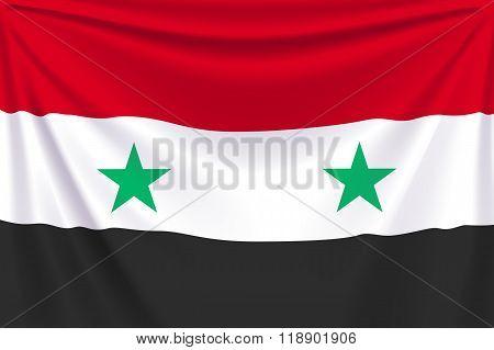 back flag Syria