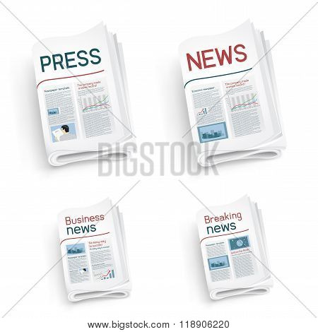 set of newspapers