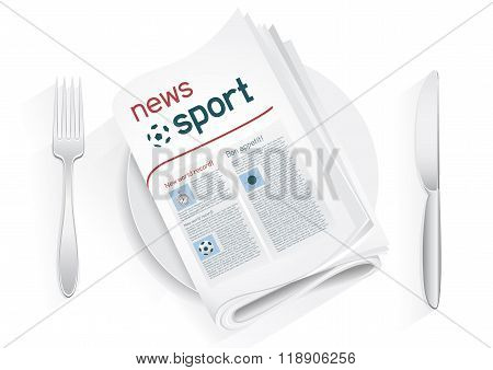 sport news tablewares