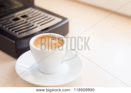 Brewing Classic Espresso With Coffee Machine