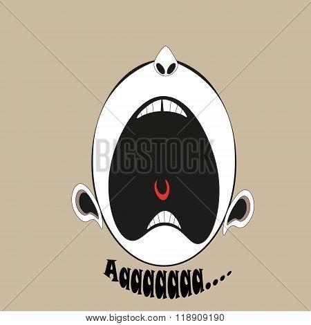 Scream-emotion  illustration