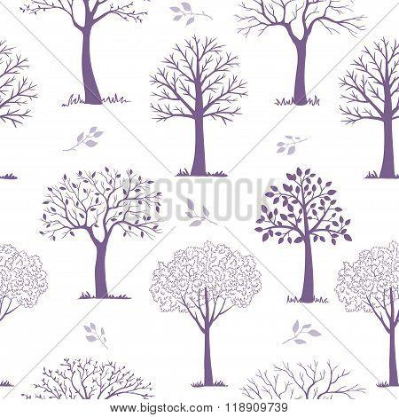seamless pattern trees