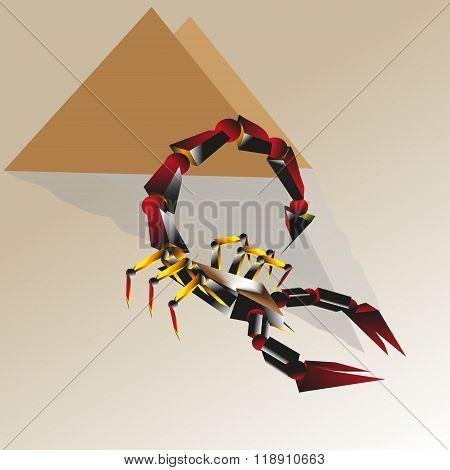 Red scorpio illustration