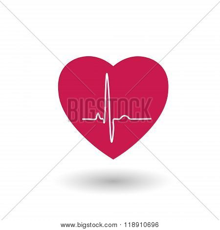 Red heart rate and pulse