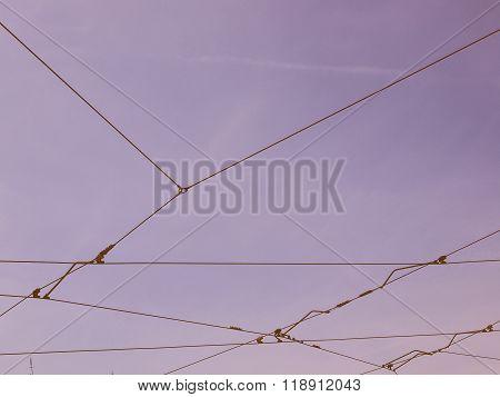 Overhead Tram Line Vintage