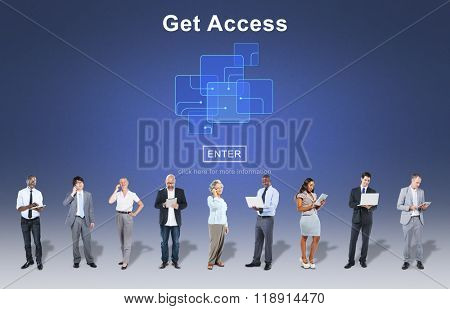 Get Access Availability Obtainable Online Internet Technology Concept