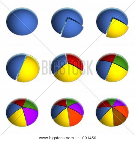 3D Business Pie Chart Collection