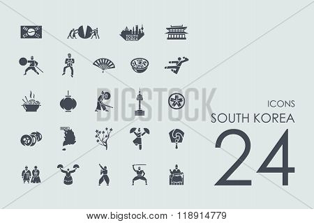 Set of South Korea icons