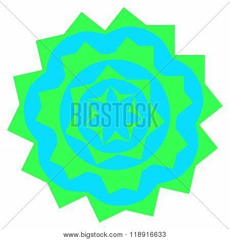 Greenish Small Mandala