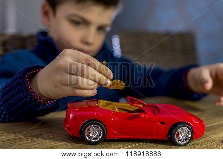 Boy With Model Car