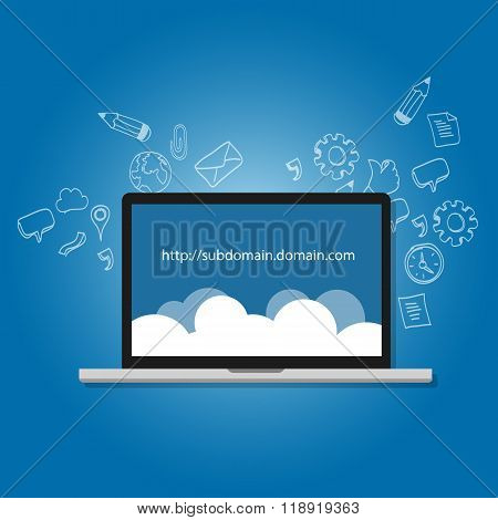 domain subdomain name .com illustration internet address