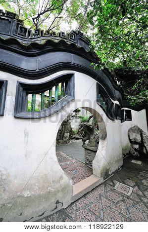 Old Chinese doorway in Shanghai