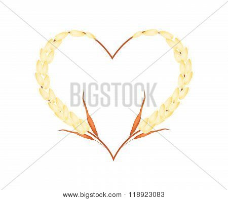 Golden Color Of Millet In A Heart Shape