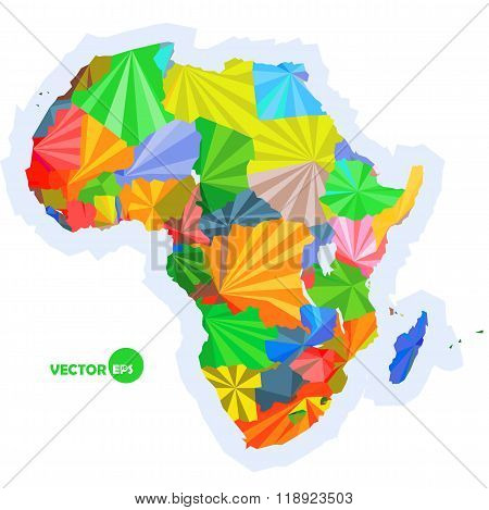 map of Africa. concept map with countries Colorful Africa map, abstract background design infographi