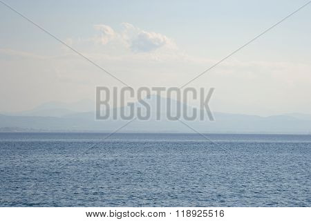 Ionian Sea In A Cloudy Day.
