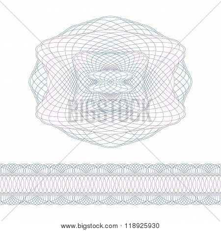 Guilloche Decorative Elements And Border