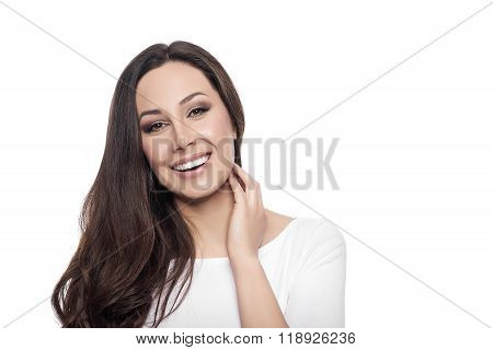 Beautiful young happy smiling woman.
