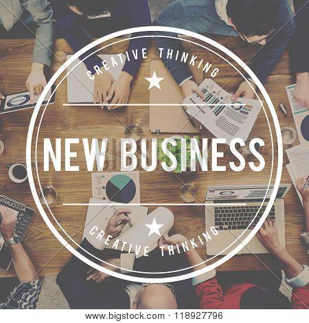 New Business Entrepreneurship Start up Planning Concept