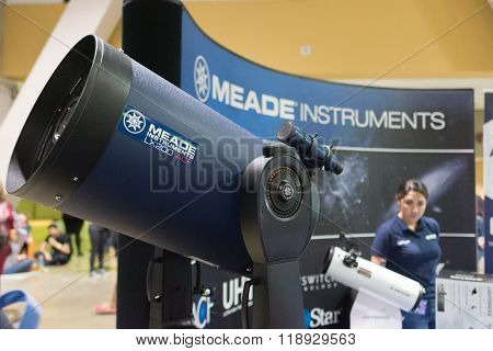 Lx200-acf Telescope During The Long Beach Comic Expo.