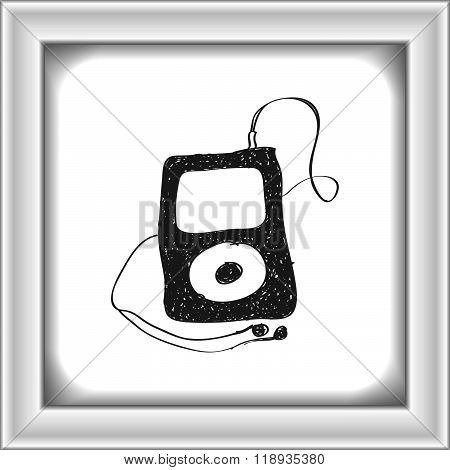 Simple Doodle Of An Mp3 Player