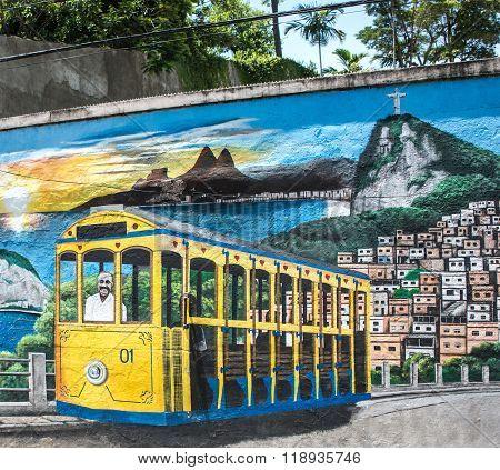 Colorful Street Art, Rio De Janeiro, Brazil