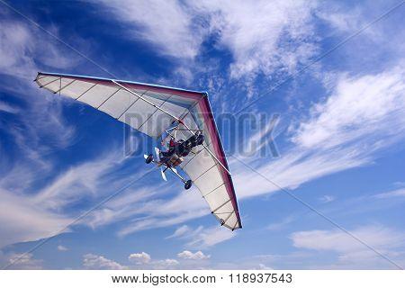 Motorizedr Paraglider Flying