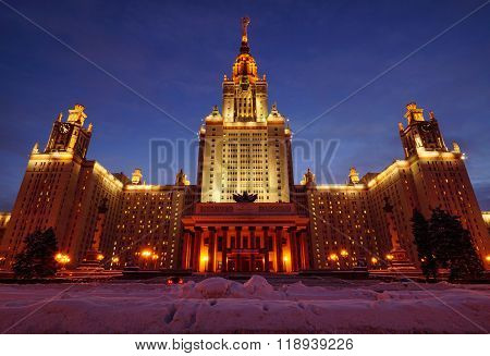 Main building of Moscow state University