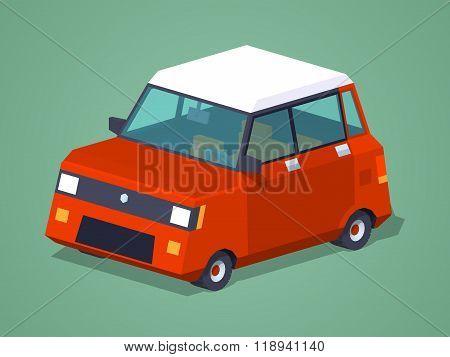 Modern red hatchback