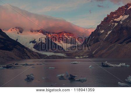 Laguna Torre in Los Glaciales NP, Patagonia, Argentina