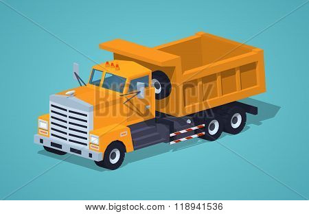 Empty orange dumper