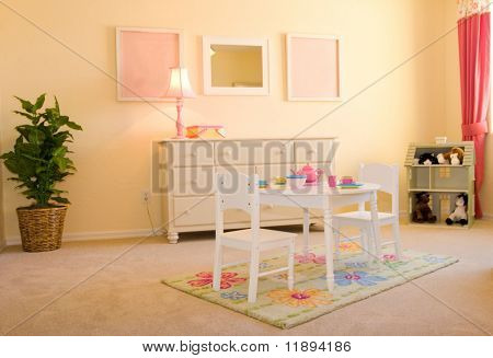 Pink children's playroom