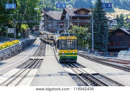 Cogwheel Train At Wengen