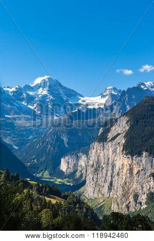 Breithorn And Lauterbrunnen Valley