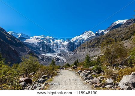 On The Hiking Path Towards Morteratsch Glacier