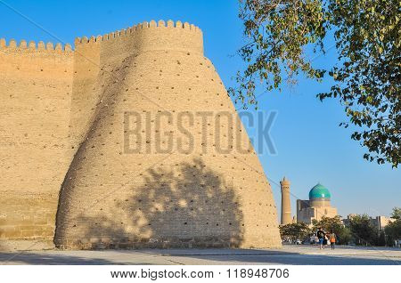 Corner Tower Of The Fortress In Bukhara